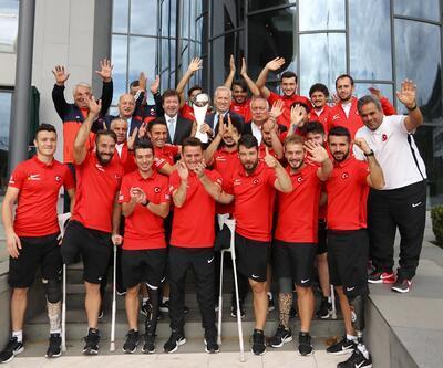 TFF heyeti, Ampute Milli Futbol Takımı'nı kabul etti