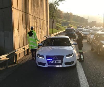 İstanbul'da emniyet şeridine girenlere ceza yağdı