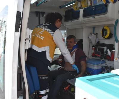 Edirne'de midibüsle otomobil çarpıştı:1  yaralı