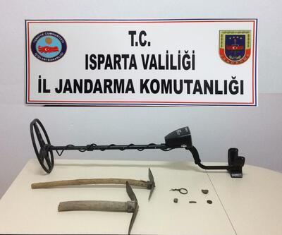 Isparta'da kaçak kazıya suçüstü