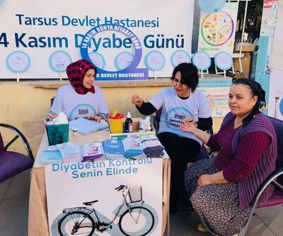 Tarsus'ta diyabete dikkat çekildi