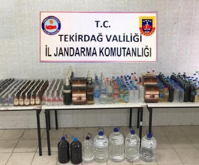 Tekirdağ'da kaçak içki operasyonu: 4 gözaltı