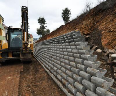 Çan Belediyesi, toprak kaymasını önlemek için çalışma başlattı