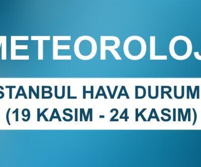 İstanbul hava durumu 19-24 Kasım verileri: Meteoroloji hava durumu verileri