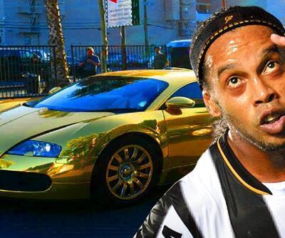 Ronaldinho'nun lüks otomobillerine haciz konuldu