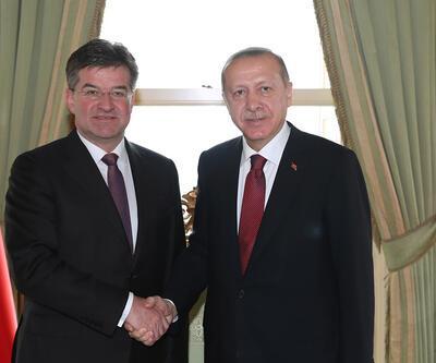 Erdoğan, Slovakya Dışişleri Bakanı'nı kabul etti
