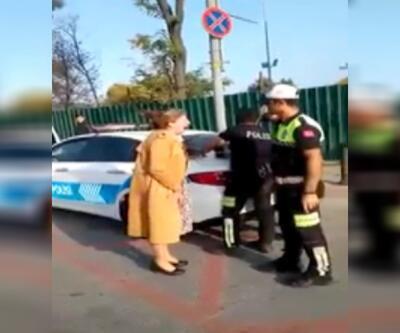 Ehliyetsiz sürücü çığlıkları ile polisi isyan ettirdi!