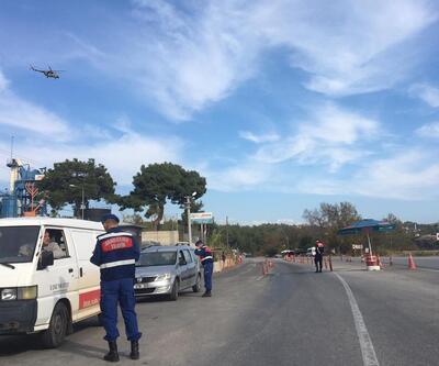 Jandarmadan hava destekli trafik denetimi