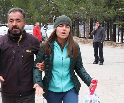 Kurtarılan dağcı arama kurtarma merkezine geldi