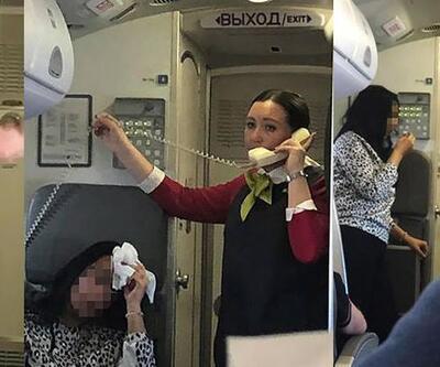 Uçakta panik anları: Yolcular fenalaştı