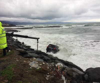 Lüks cip denize düştü: 2 yaralı