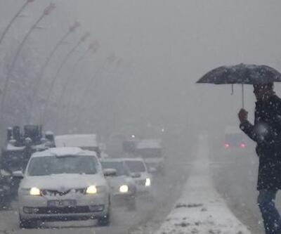 Bursa'da yoğun kar yağışı başladı!