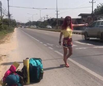 Leyla Bilginel otostop ile Uzakdoğu'yu geziyor