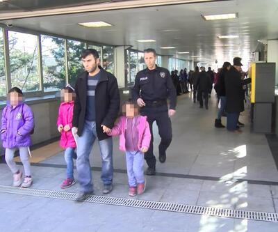 Kızlarını metro raylarına bırakan babaya idari para cezası