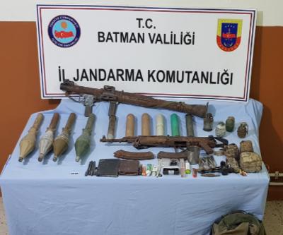 Hasankeyf'te PKK'lı teröristlerin roketatar ve el bombaları ele geçirildi