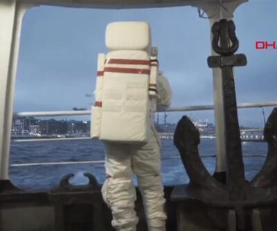 O astronot bu sefer de vapura bindi