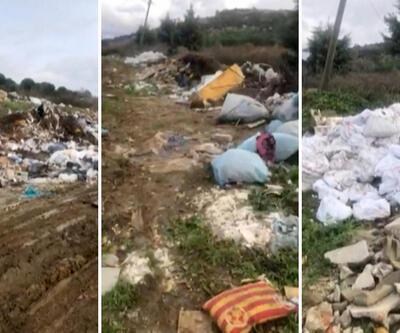 Çatalca'daki ormanı çöp yığınına çevirdiler