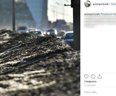 Rusya'da yine 'siyah' kar yağdı