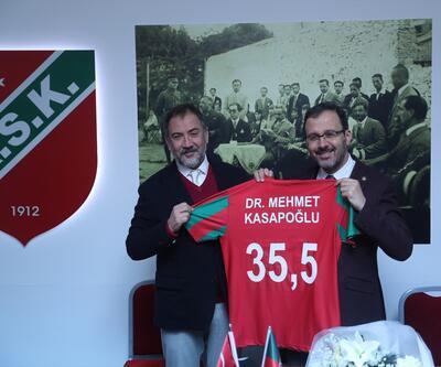 Bakan Kasapoğlu Karşıyaka kulübünü ziyaret etti