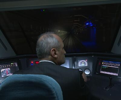 Hızlı tren Marmaray'dan geçti