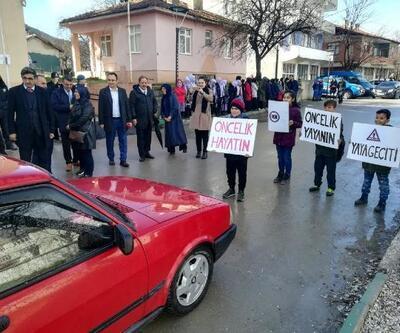 Bursa'da 'yaya öncelikli trafik' etkinliği