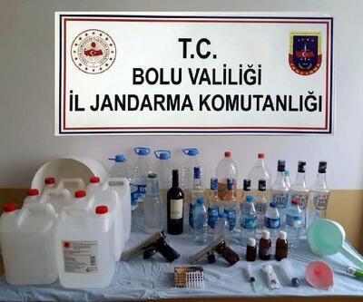 Mengen'de 7 kaçak içki imalathanesine baskın: 7 gözaltı