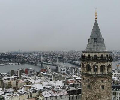 Kar altındaki tarihi yarımada havadan fotoğraflandı