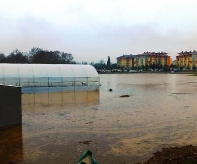 Simav Çayı taştı, Bigadiç'te ekili araziler su altında kaldı