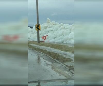 'Buz tsunamisi' böyle görüntülendi