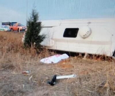 Ankara'da sporcuları taşıyan minibüs devrildi: 1 ölü, 17 yaralı