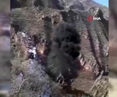 PKK'ya ait 19 sığınak böyle imha edildi