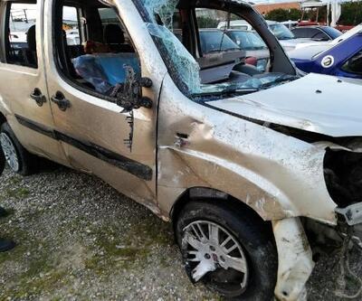Otomobil şarampoye devrildi: 1 bebek öldü, 4 yaralı