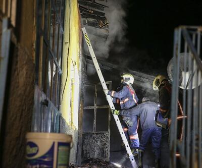 Başkentte gecekondu yangını