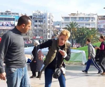 Kadının rehin aldığı taksici polislere sığındı