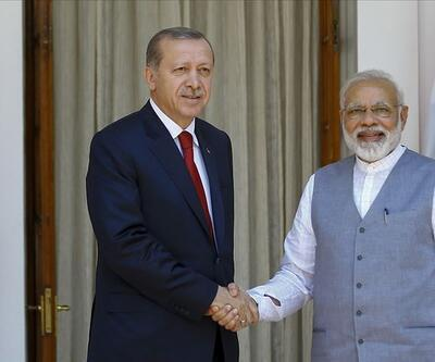 Son dakika... Cumhurbaşkanı Erdoğan, Hindistan Başbakanı ile görüştü