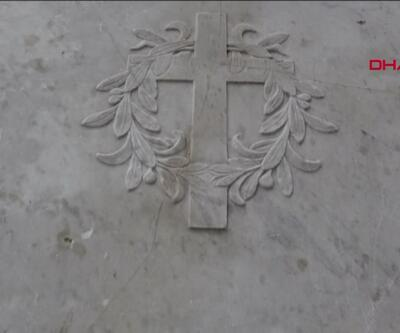 138 yıllık mezar taşı tezgah olarak kullanılmış