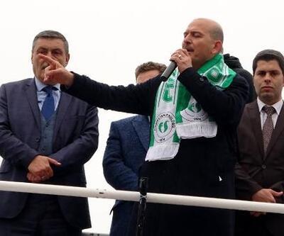 Bakan Soylu, Fındıklı'da halka hitap etti