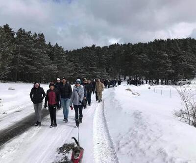 Koyulhisar'da doğa yürüyüşü düzenlendi