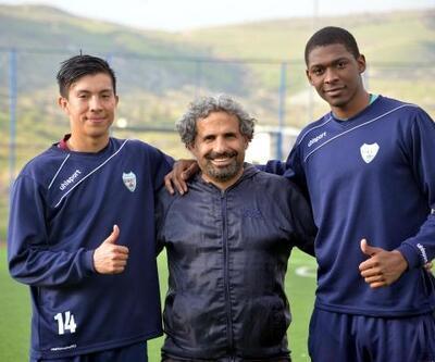 Kolombiyalı futbolcular, Diyarbakır'a alıştı