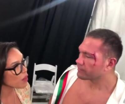 Muhabiri öpen Bulgar boksörün lisansı askıya alındı
