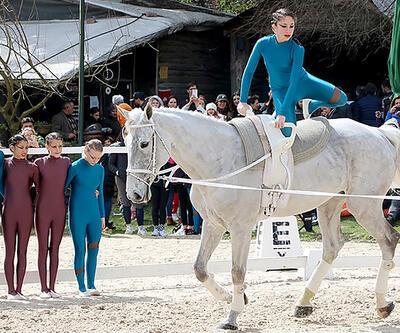 Atlı cimnastik yarışması Türkiye'de ilk kez gerçekleştirildi