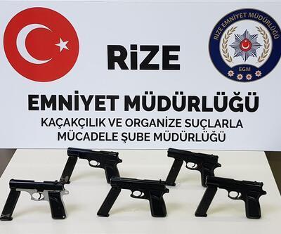 Rize'de silah kaçakçılarına ağır darbe