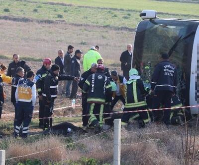 Denizli'de yolcu otobüsü devrildi: 2 ölü, 35 yaralı- Yeniden