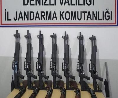 Denizli'de silah kaçakçılığına 5 gözaltı