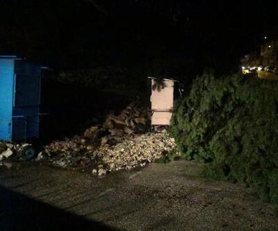 Hatay'da sağanak sele neden oldu, bir okulun istinat duvarı yıkıldı