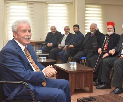 Süryani cemaatinden AK Parti'li başkana ziyaret