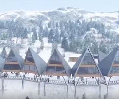 Gümüşhane'de tarihi mahalleye kayak tesisi