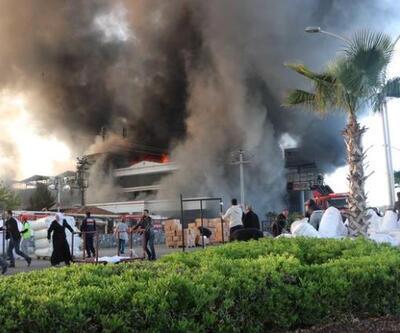 Denizli'de tekstil fabrikasındaki yangın
