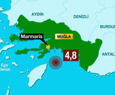 AFAD duyurdu! Marmaris açıklarında deprem
