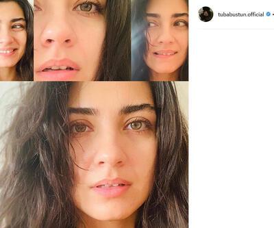 Tuba Büyüküstün'ün makyajsız pozu sosyal medyayı salladı